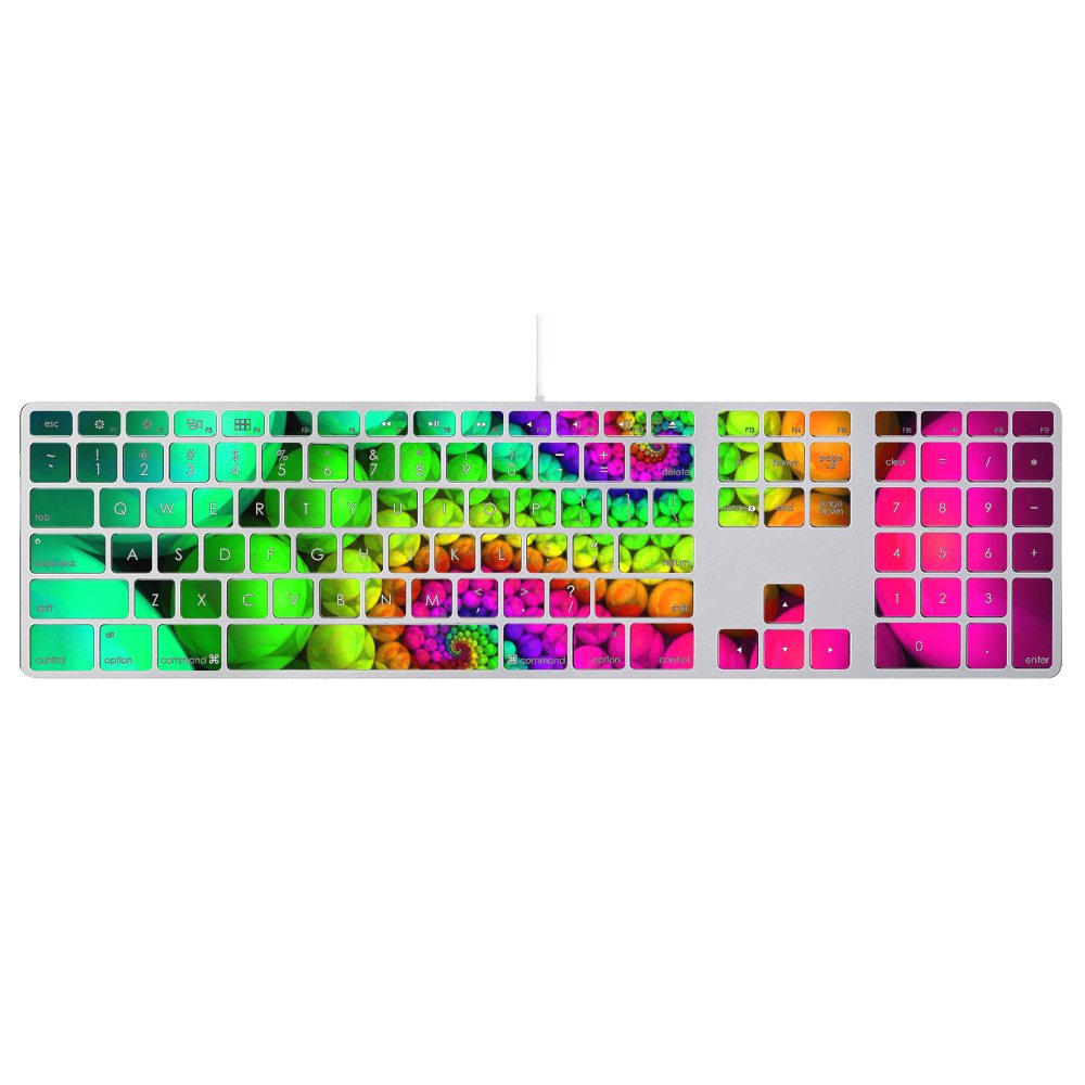 d3b4d0fe586 Amazon.com: MightySkins Protective Vinyl Skin Decal for Apple Keyboard with Numeric  Keypad wrap Cover Sticker Skins Hallucinate: Electronics