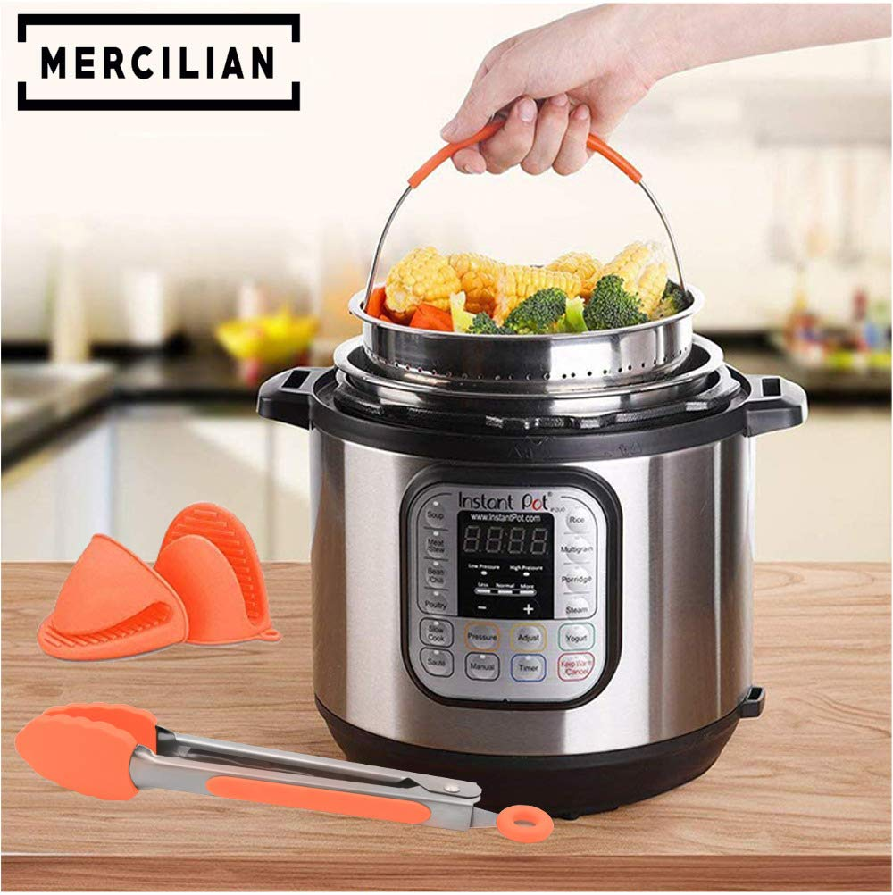 Instant Pot Electric Pressure Cooker 77 Pcs Accessories Set | 6qt & 8qt | Sealing Ring Gasket, Non Stick Springform Pan, Egg Mould Bites, Stainless Steel Steamer Basket, Kitchen Tongs, Magnet And More by Mercilian (Image #2)