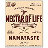 Whole Bean Organic Coffee - NAMATASTE - 1 LB - Nectar of Life Fair Trade Dark Roast Coffee Beans - USDA Certified Organic - Gourmet Organic Coffee