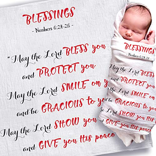 Newborn Baby Gifts for Boys and Girls | Best New Baby Shower Gift | Baptism Gifts for Goddaughter, Godson, Godchild | Christening Gifts from Grandparents, Godparents (May The Lord) (Best Christening Gifts From Godparents)