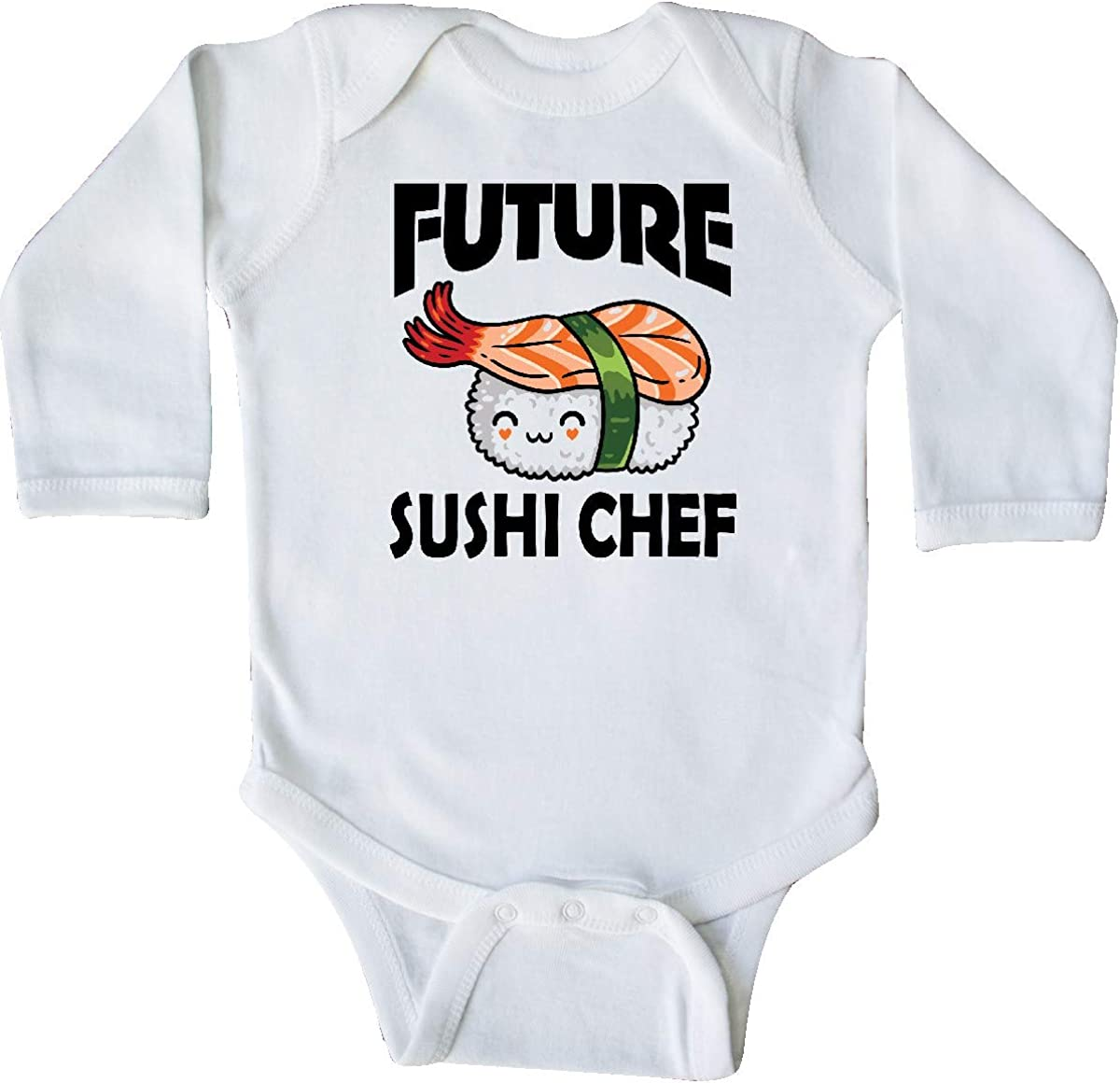 inktastic Future Sushi Chef Baby Clothes Long Sleeve Creeper