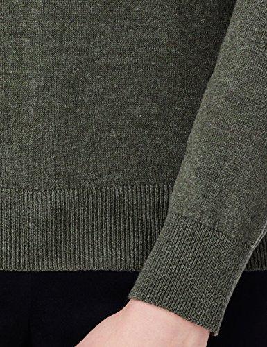 Coton Pull Vert Cou Khaki Col Ras MERAKI du Femme en Wq7d86WExw