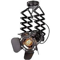 Vintage plafondspot, verstelbare plafondlamp, hanglampen met zwenkarm voor bar eetkamer (E27 lampen inbegrepen)