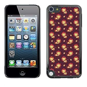FlareStar Colour Printing cute flower cáscara de plástico para Apple iPod Touch 5