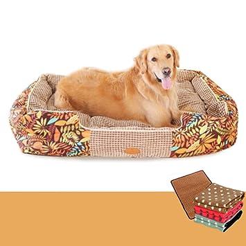 LJ-PET Gamuza Mascota Cama de Perro, Acogedor Cálido Antideslizante, Cubierta extraíble Lavable Asiento-B L: Amazon.es: Productos para mascotas