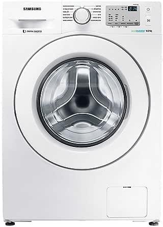 Samsung 8 Kg 1200 RPM Diamond Drum, Front Load Washing machine with Eco Bubble, White - WW80J4213KW, 1 Year Warranty