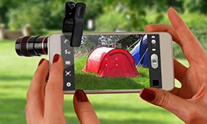 sale retailer 6bdbb 49e97 Universal 8X Zoom Detachable Clip-on Telescope Lens with Accessories for  iPhone Samsung HTC LG Camer