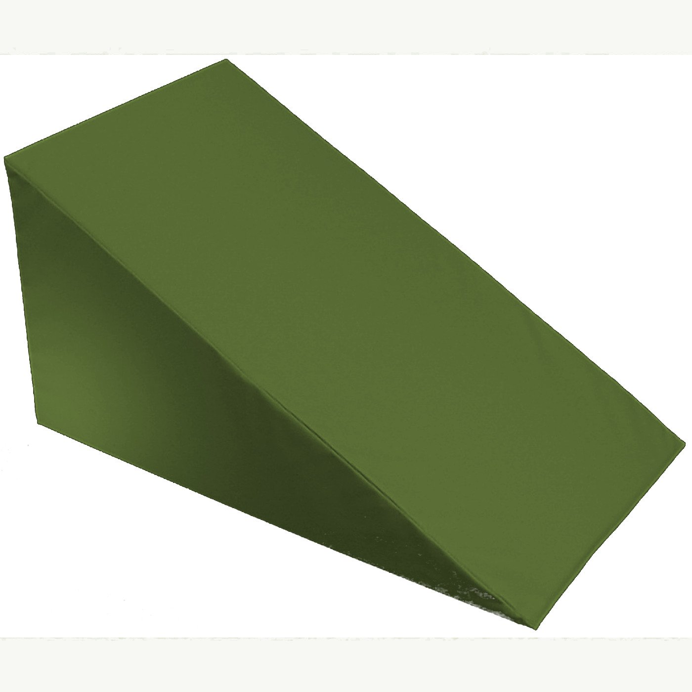 """7"""", 10"""", 12""""- inch Foam Bed Wedge Zippered Cover / Pillow Replacement COVER (24'' X 24'' X 12'', Olive)"""