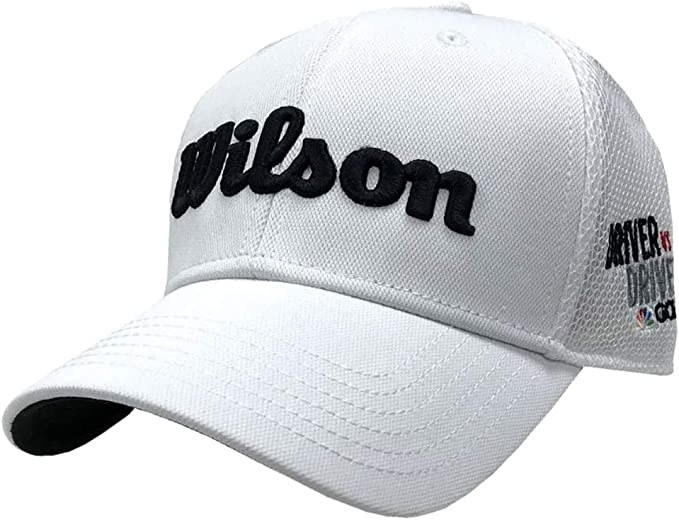 Wilson Staff Tour Mesh Hat Golf Cap Driver vs Driver White Adjustable WGH610DVD