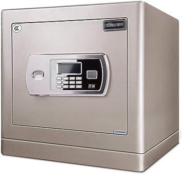 Cajas de caudales Caja Fuerte Electrónica For El Hogar Contraseña Segura Mini Caja Fuerte De Oficina Caja De Acero (Color : Silver, Size : 38.6 * 30 * 40cm): Amazon.es: Bricolaje y herramientas