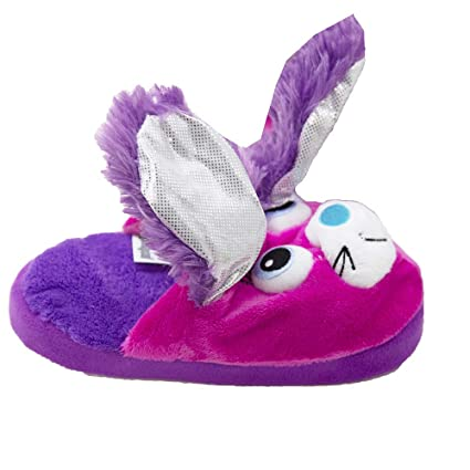 af6ac8fab51 Amazon.com  Stompeez Bunny Slippers With Personality! Purple   Pink ...