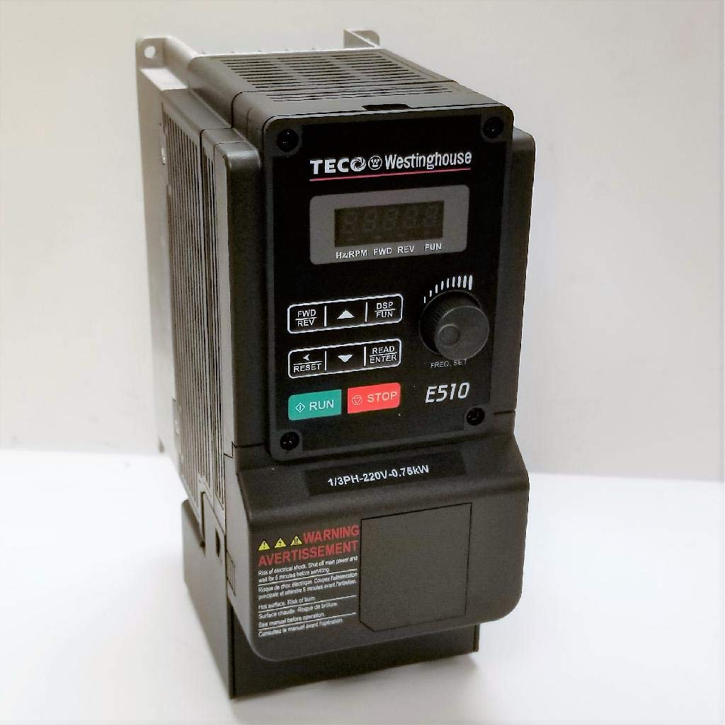 Teco-Westinghouse E510-201-H-U E510 VFD NEMA 1 230VAC Single/Three Phase by Teco-Westinghouse