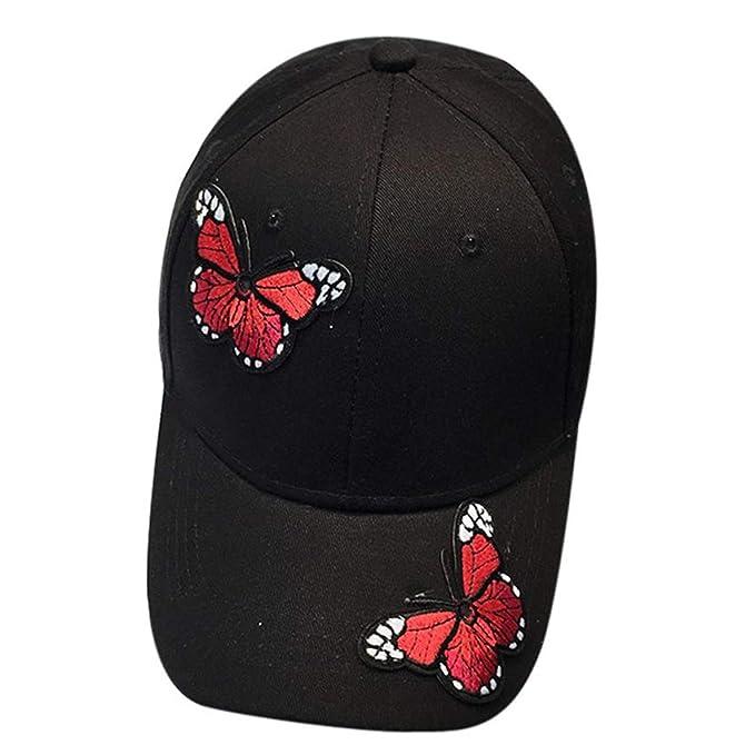 Snapback Cap Algodón Gorra De Béisbol Blanco Negro Mariposa para Mujer Sombreros De Las Mujeres Algodón para El Otoño Al por Mayor # Lrew Negro: Amazon.es: ...