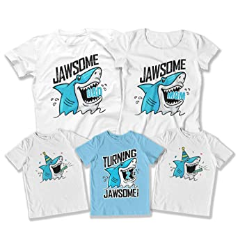 Kids Shark 2nd Birthday Bundle Party Ideas For 2 Jawsome Matching Shirts Two Bday DAT