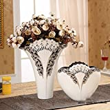 Home Decorations Living Room Vase Simulation Flower Ornaments European - Style Home Decoration(Does Not Contain Flowers)