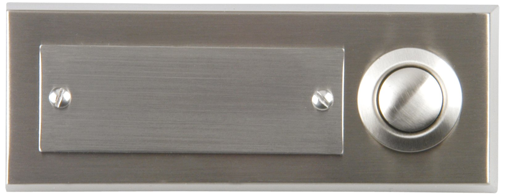 Unitec 41104 Surface-Mounted Door Bell Push Button 1-Channel Stainless Steel