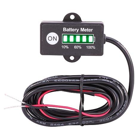 searon Marino de coche mini medidor de batería de 12 V 24 V LED indicador para