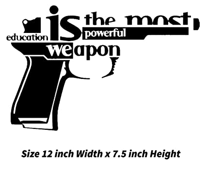 Education Is The Most Powerful Weapon   Easy To Apply DIY  Laptop Macbook  Vinyl Sticker