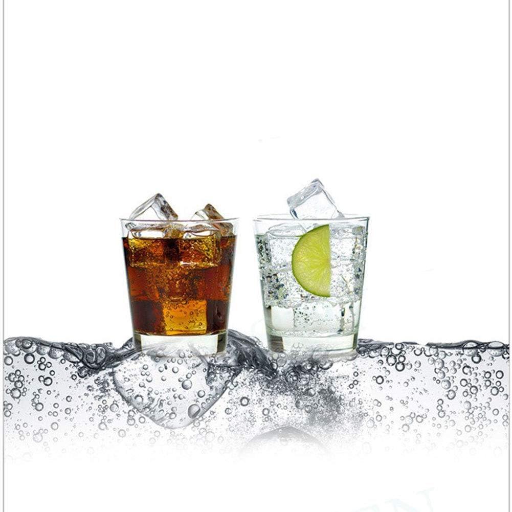 Nero DYJD Soda Maker del Manuale in casa Soda Water Macchina Soda Siphon Cristallo Acqua frizzante Maker Soda Adatta alla creazione di Bevanda Fredda Cocktail Succo di Frutta Fai da Te