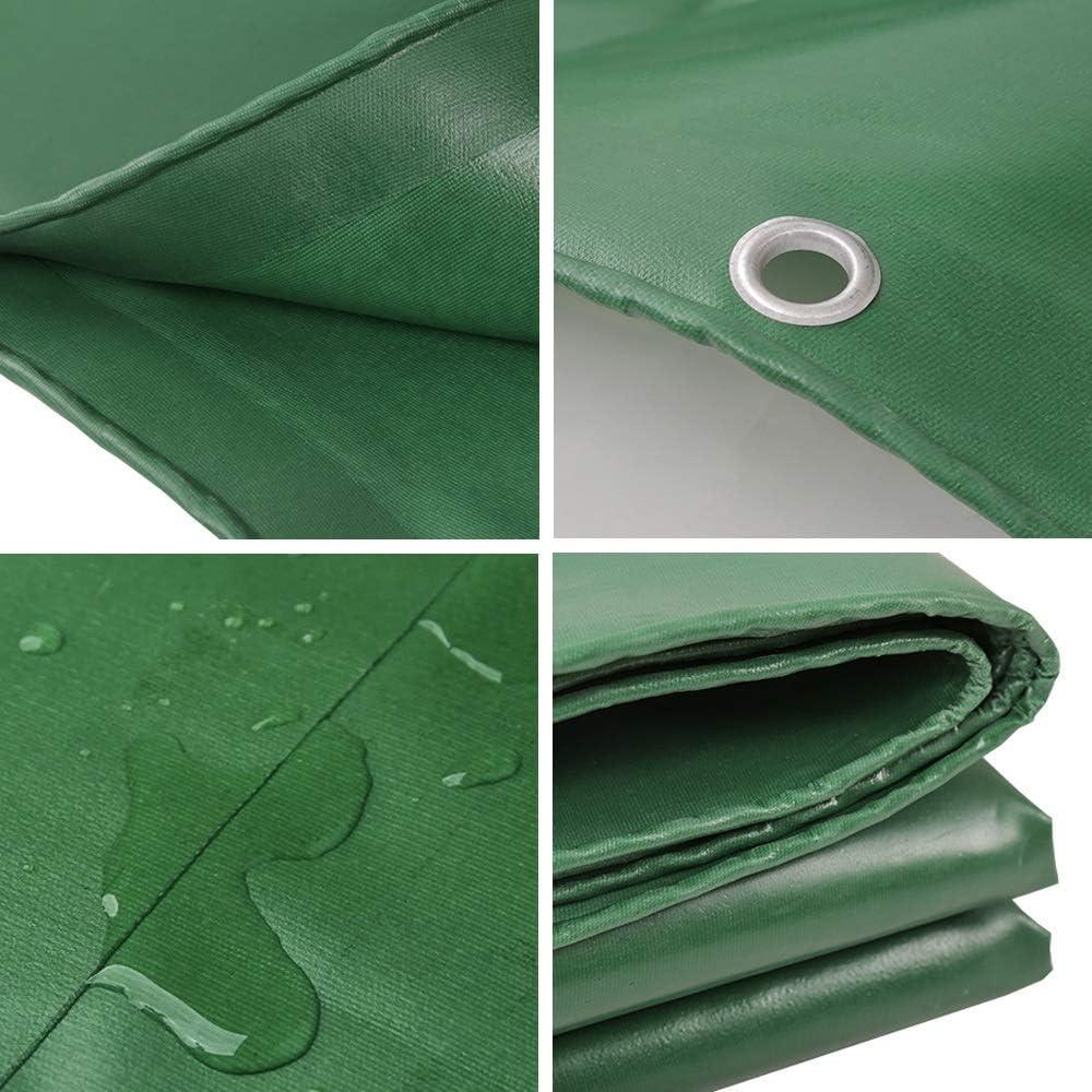 B07T3Z8WTX Tarp Shade Cloth - Outdoor Thick Tarpaulin, Canvas Tarpaulin PVC Plastic Coated Cloth - Sunshade Waterproof Sunscreen Tarpaulin Awning Cloth - Thickness 0.42mm - Customizable Size 515vigWftWL.SL1000_