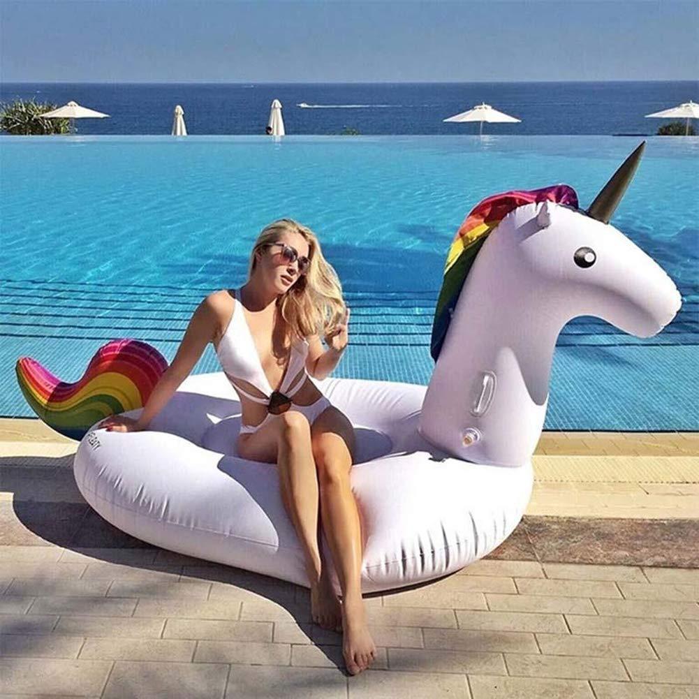 Amazon.com: Flotador inflable para piscina de flamenco, con ...