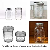6 Pack Mason Jar Lights 10 LED Solar Cold White