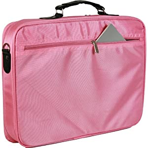 15.6 inch Pink Laptop Notebook Shoulder Messenger Bag / Carry Case / Briefcase from MyGift