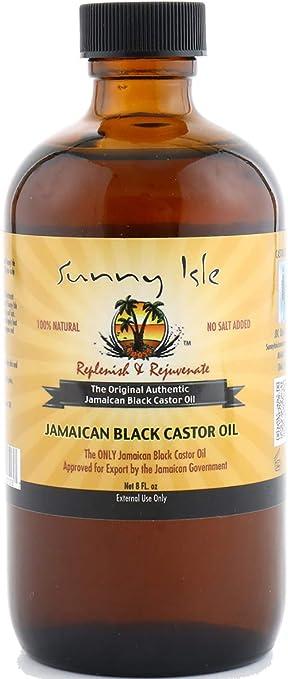 Aceite de ricino negro para el cabello