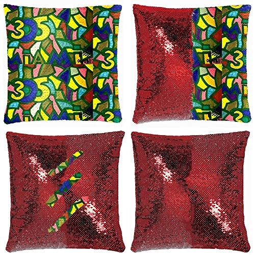 Bath Club Miami Halloween Party (Huayuanhurug Miami Drawing Throw Pillow Cover 18 x 18 Inches Reversible Sequin Throw Pillow Case Cover Home Decor Cushion)