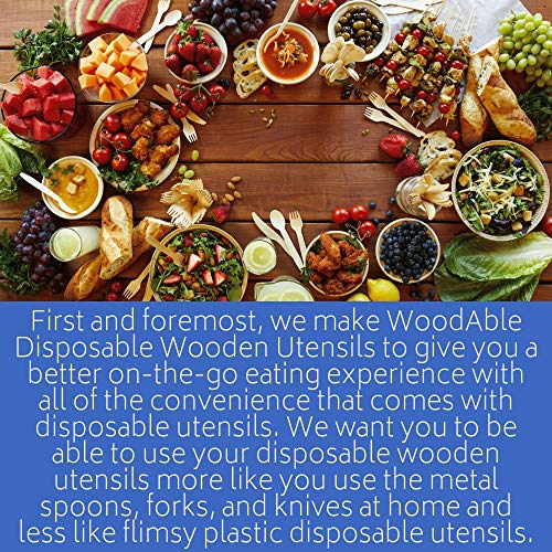 WoodAble - Disposable Wooden Forks, Spoons, Knives Set