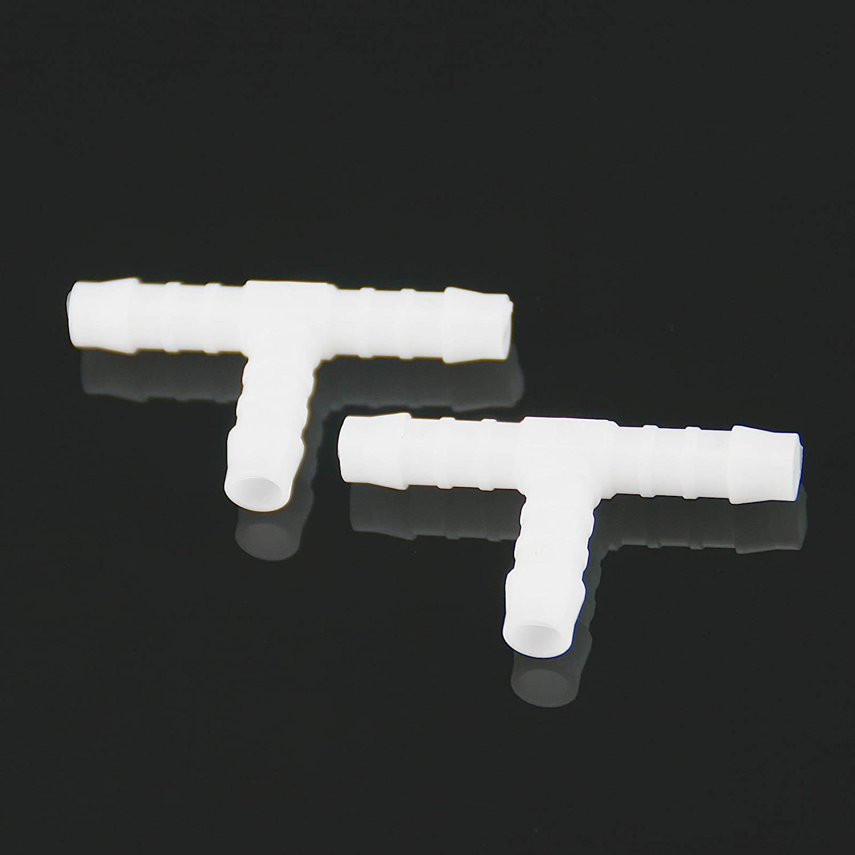 2X Benzin-Schlauchverbinder T-Form weiß 8mm KSOH Products