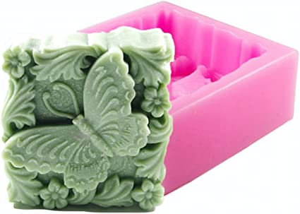 Soap Mold Rose Flower Butterfly Silicone Mold Crafted Molds Handmade Soap Mold