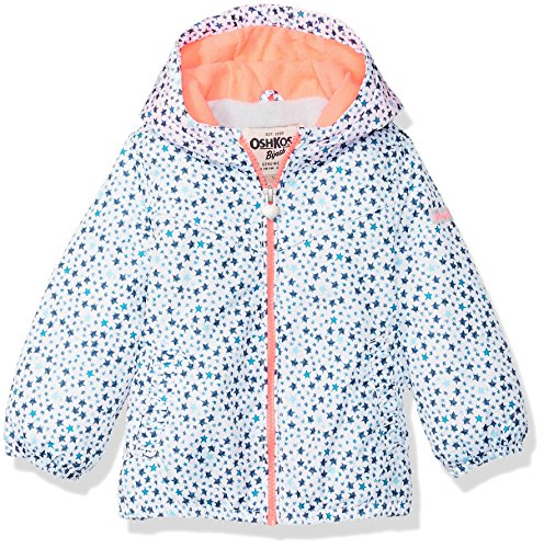 Osh Kosh Baby Girls Favorite Midweight Jacket with Fleece Lining, Ivory, 18M