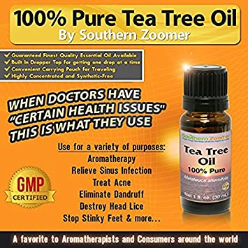 Southern Zoomer Tea Tree Essential Oil - 100% Pure Melaleuca Alternifolia -  Best for Aromatherapy