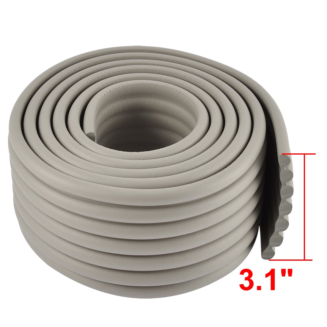 uxcell Table Desk Edge Corner Cushion Guard Protector Beige w Adhesive Tape