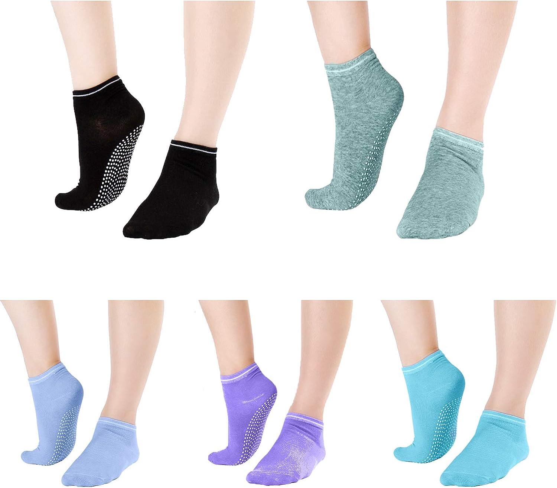 Non Slip Sticky Pilates Sock Anti-Skip Yoga Barre Socks Ballet Socks for Women /& Girls
