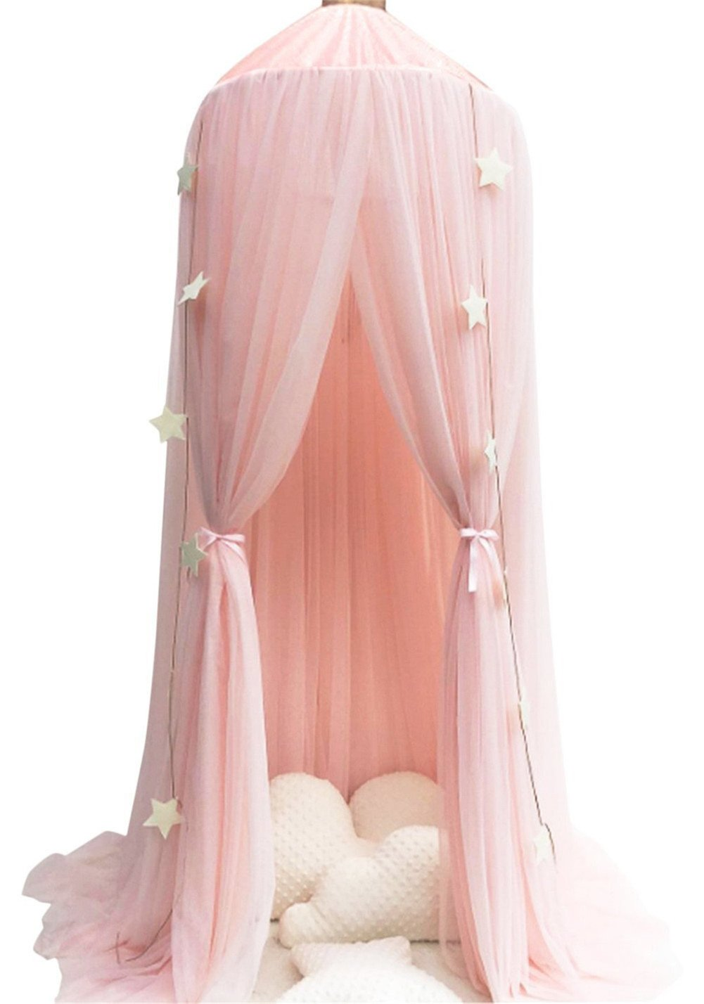 yangelo Dome Bed Canopy Kids Play Tent Mosquito Net for Baby Kids Indoor Playing 240cm (Pink)