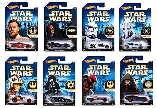 Hot Wheels Star Wars 2015 Exclusive Bundle of 8 Die-Cast Veh