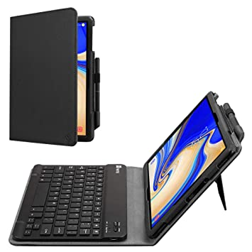 the latest 81633 47bd0 FINTIE For Samsung Galaxy Tab S4 10.5 Keyboard Case, Slim Fit Folio PU  Leather Case Cover with Detachable Magnetical Bluetooth Keyboard for  Samsung ...