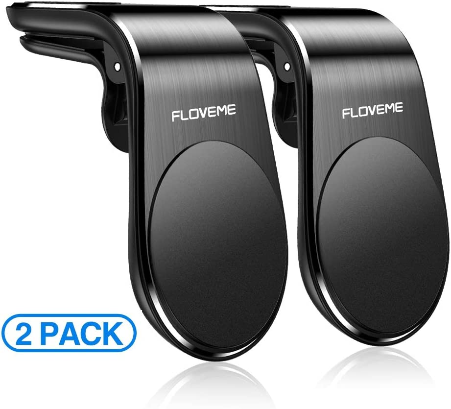 Magnetic Phone Car Mount (2 Pack) FLOVEME 5N52 Magnets Hands Free Universal Smart GPS Cell Phone Holder for Car Air Vent Mount for iPhone 11 Pro Max XR XS X 8 7 Plus Samsung Galaxy S10 S9 S8 Note 10