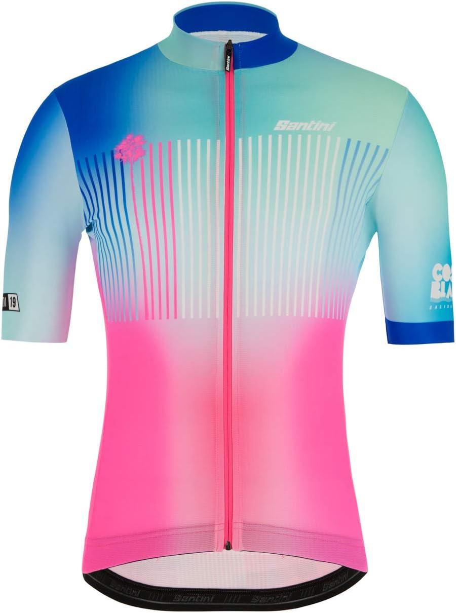 T-Shirt Manches Courtes Homme Santini La Vuelta-Kilom/ètre Zero 2019
