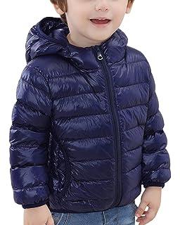 Chaqueta de Invierno Plumón con Capucha Ligero Corta Abrigo Parka para Infantil Niños Niñas