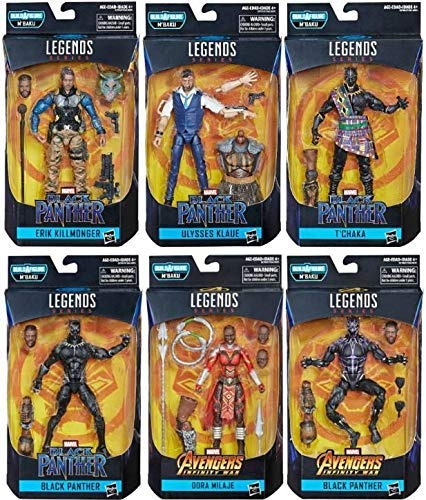 (Black Panther Marvel Legends Wave 2 Set of 6 Figures (M'Baku BAF))