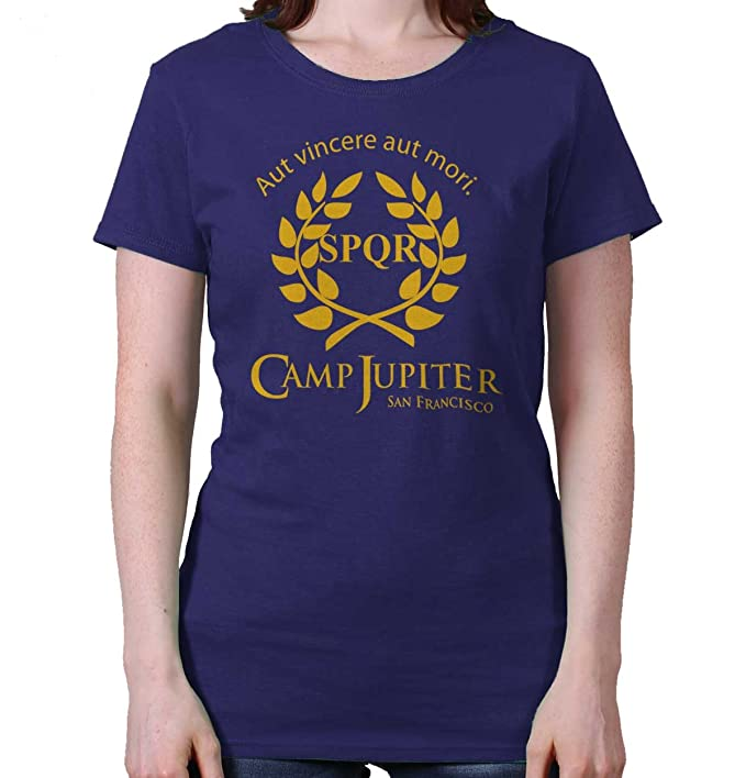 Camp Jupiter Half Blood Percy Jackson Gym Ladies T Shirt at Amazon Womens Clothing store: