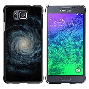 Qstar Arte & diseño plástico duro Fundas Cover Cubre Hard Case Cover para Samsung GALAXY ALPHA G850 ( Galaxy Milky Way Stars Cosmos Mysterious)