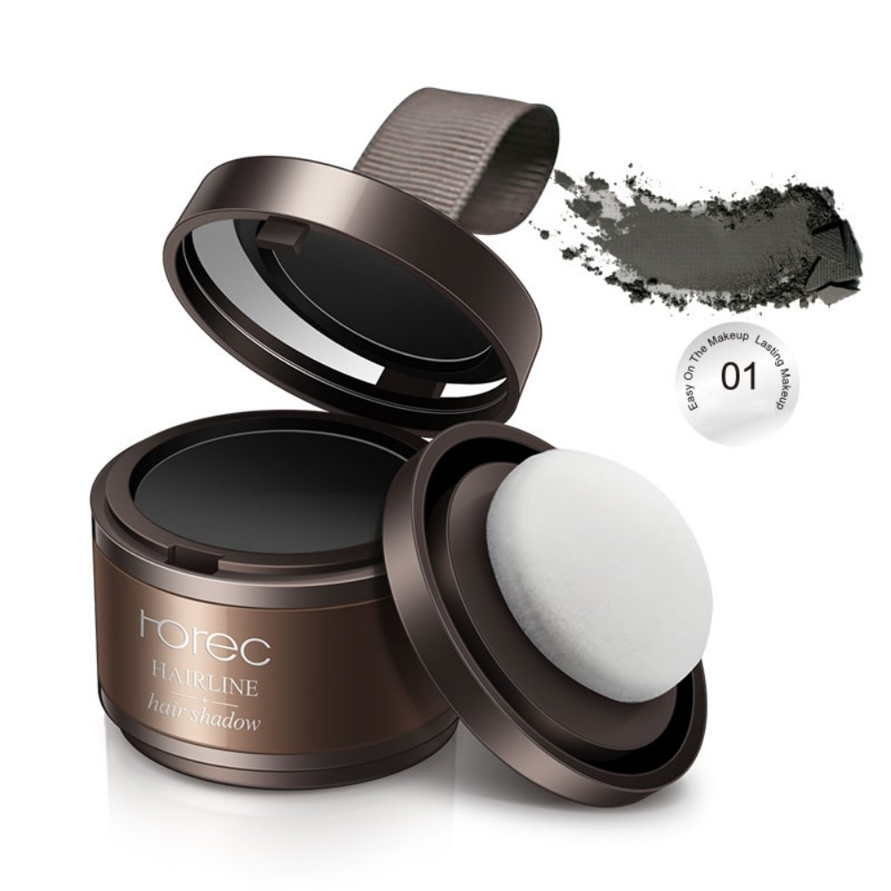 Sizet Grey and Brown Hairline Filled Shadow Powder Hair Care Soft Powder With Puff