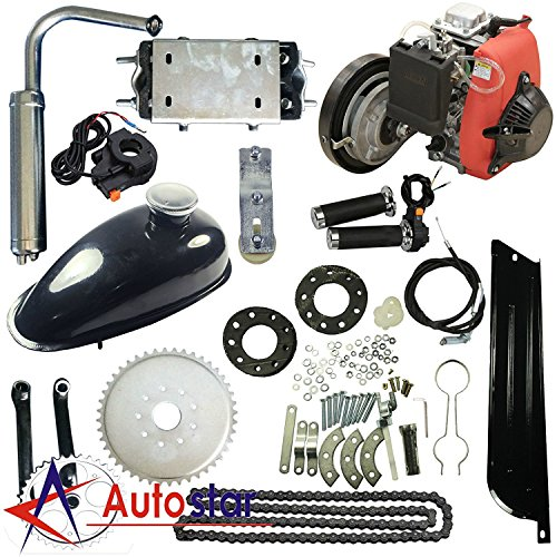 (4-Stroke 49CC Gas Petrol DIY Motorized Bicycle Bike Engine Motor Kit Scooter)