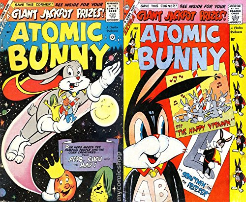 Atomic Bunny. Issues 16 and 17. Features Pepo, Cucu, The Happy Vitamin, Somethin for the freezer and the Map. Cartoon Comics. Golden Age Digital Comics.