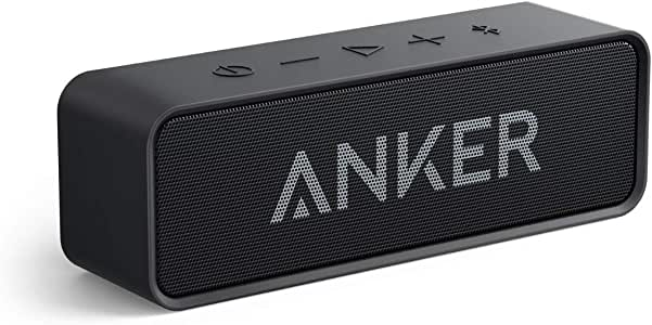 Anker Soundcore Bluetooth Speaker with Loud Stereo Sound, 24-Hour Playtime, 66 ft Bluetooth Range, Built-in Mic. Perfect Portable Wireless Speaker for iPhone, Samsung and More