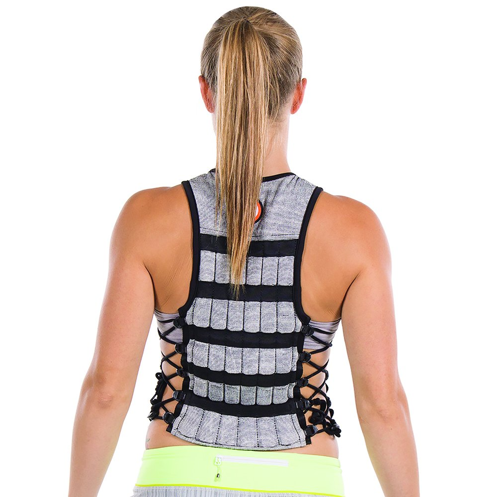 Hyperwear Hyper Vest PRO Adjustable Weight Vest Medium, Comfortable Fabric, Unisex 10-Pound, Functional Fitness Training, Walking Weight Vest, Flexible Material, Side Laces for Custom Fit by Hyperwear (Image #6)